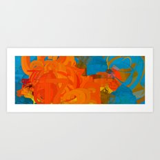 Digital Goldfish Art Print