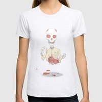 zombie Womens Fitted Tee Ash Grey SMALL