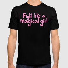 fight like a magical girl SMALL Black Mens Fitted Tee
