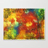 Color Collision Canvas Print