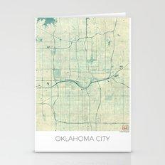 Oklahoma City Map Blue V… Stationery Cards