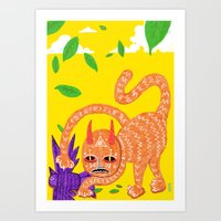 Fox And Hawk, Let's Be F… Art Print