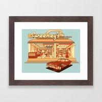 Sweeney's Diner Framed Art Print