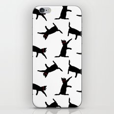 Cats-Black on White iPhone & iPod Skin