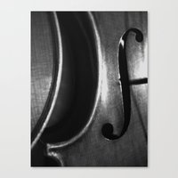 F HOLE Canvas Print