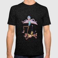 Rick And Morty - Pink Gr… Mens Fitted Tee Tri-Black SMALL