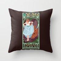 Thumbelina Nouveau - Thumbelina Throw Pillow
