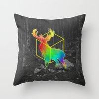 Catch The Reinbow Throw Pillow