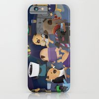 iPhone & iPod Case featuring Pug Party by Claire Stamper