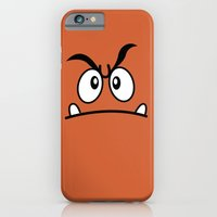 iPhone & iPod Case featuring Minimalist Goomba by beware1984