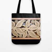Bronze Art Deco Leaves Tote Bag