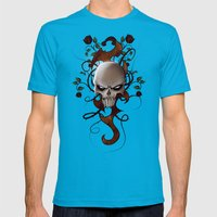 Skull Mens Fitted Tee Teal SMALL