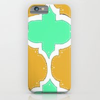 Morocco Orange & Teal iPhone 6 Slim Case