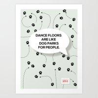 Dance Floors Art Print
