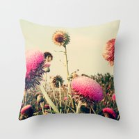 Flower World! Throw Pillow