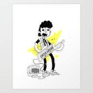 Keytar Jam Art Print