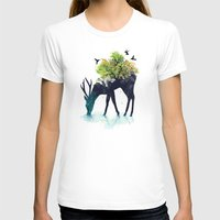 white T-shirts featuring Watering (A Life Into Itself) by Picomodi