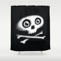 Skull & bones Shower Curtain