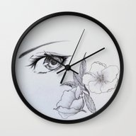 Wall Clock featuring Behind The Spring Blosso… by Sugarless Daydreams