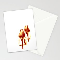 Red, red hot (down) Stationery Cards