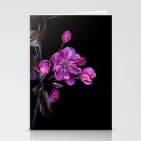 cherry blossom Stationery Cards featuring Cherry Blossom by CreativeByDesign