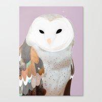 WHITE OWL 2 Canvas Print