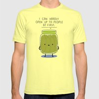 Introverted Jar Mens Fitted Tee Lemon SMALL