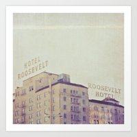 Hotel Roosevelt Hollywoo… Art Print