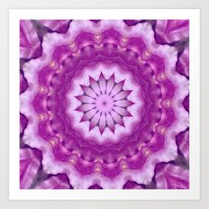 Pink Flower Kaleidoscope Art Print