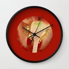 red pepper macro II Wall Clock