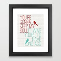 Keepsake - State Radio Lyrics Framed Art Print