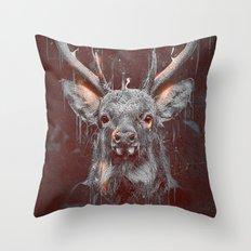 DARK DEER Throw Pillow