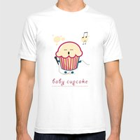 Baby Cupcake - Music Mens Fitted Tee White SMALL
