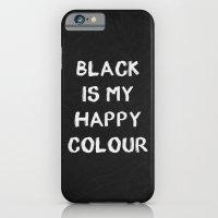 Black Happy 01 iPhone 6 Slim Case