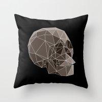 Geometric skulls Throw Pillow