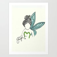 Tinkerbell Zen Tangle Art Print