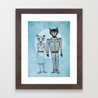 Fox and Wolf Framed Art Print