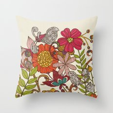 Spring garden Throw Pillow