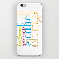 Funny Birthday Card iPhone & iPod Skin