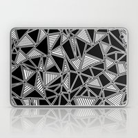 Abstract Outline Lines Black Laptop & iPad Skin