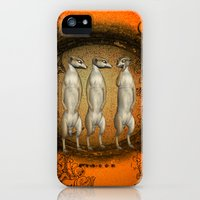iPhone Cases featuring Funny meerkats  by nicky2342