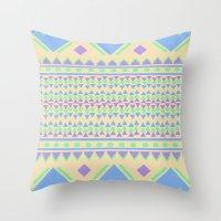 TriangleTraffic Throw Pillow