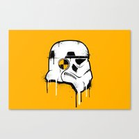 Stencil Trooper - Star Wars Canvas Print