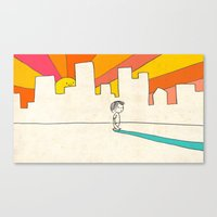 if i had eyes at the back of my head, i wouldn't have to miss the sunset on my way home Canvas Print