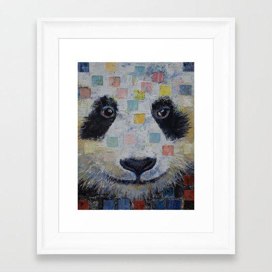 Panda Checkers Framed Art Print