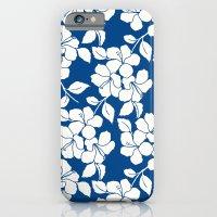 Hibiscus Floral: Marine Blue iPhone 6 Slim Case