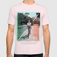 A.G. Collage Mens Fitted Tee Light Pink SMALL