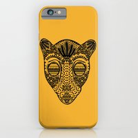 iPhone & iPod Case featuring Black and Gold Jaguars Head by NOxLA