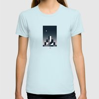 Twilight Womens Fitted Tee Light Blue SMALL