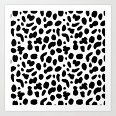 Dalmatian ink pattern Art Print